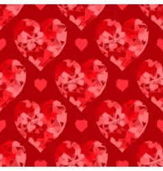 Valentine hearts background low poly vector