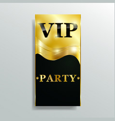 vip club party premium invitation card poster flye vector image