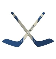 Hockey sticks icon vector
