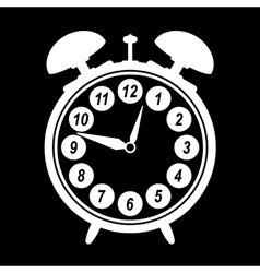 Silhouette of retro alarm clock eps 10 vector image