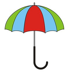 Colorful umbrella vector