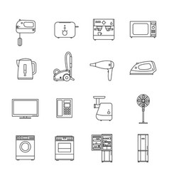 Home household appliances vector