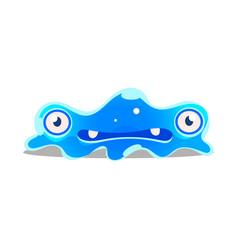 funny cartoon sluggish blob monster cute bright vector image