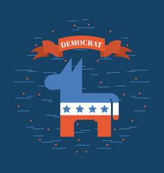 Democrat party emblem image vector