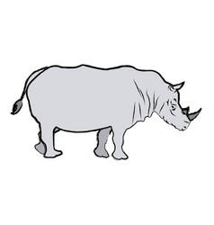 Rhino wild animal africa exotic mammal vector