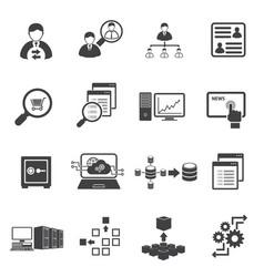 Big data icon set business finance vector