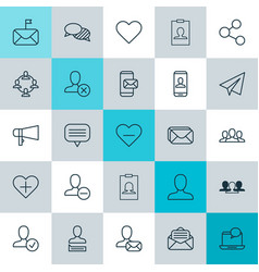 Network icons set collection of delete privacy vector