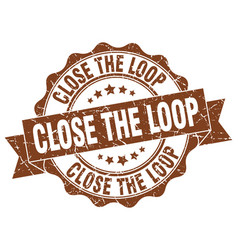 Close the loop stamp sign seal vector