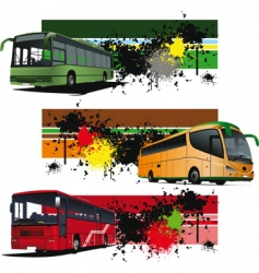Bus banners vector