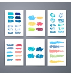 Set of grunge brush strokes templates vector