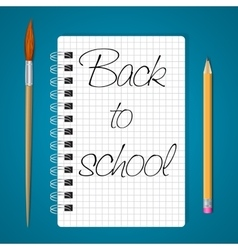 Notebook back to school vector