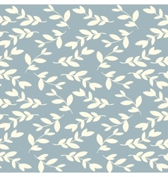 seamless floral vintage pattern with leaves vector image