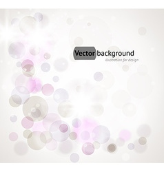 Soft white background with purple circles vector