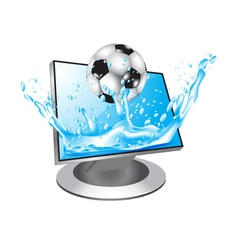 Football in water vector