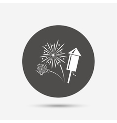 Fireworks sign icon explosive pyrotechnic show vector