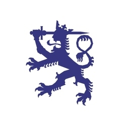 Heraldic lion icon insignia design vector