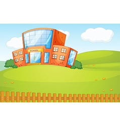a school in beautiful nature vector image vector image