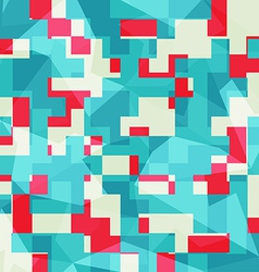 abstract blue squares seamless pattern vector image vector image