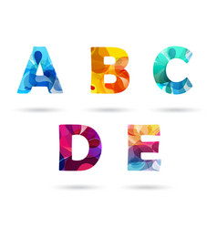abstract colorful capital letters set vector image