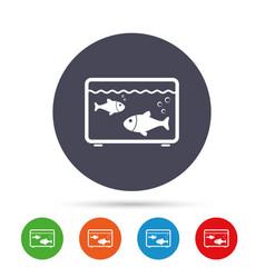 Aquarium sign icon fish in water symbol vector