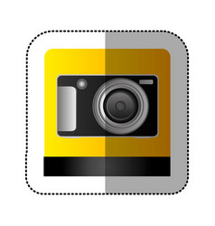 Black digital professional camera icon vector