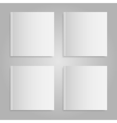 Blank empty magazine or book Mock up Four vector image vector image