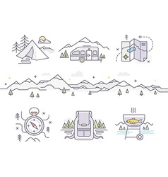 Camping Lifestyle vector image vector image