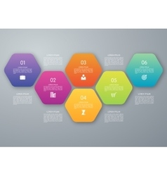 Circle hexagon infographic vector