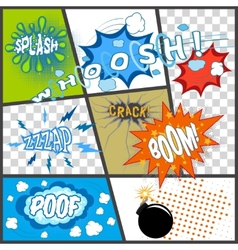 Comic Book Page vector image