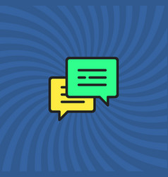 Comments icon simple line cartoon vector