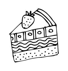 Delicious cake silhouette icon vector