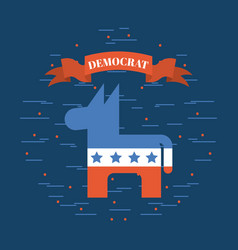 Democrat party emblem image vector