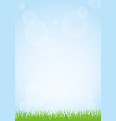 Field of green grass and blue sky background vector