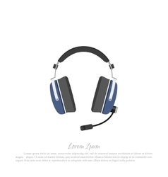 Headphones civil aircraft pilot vector