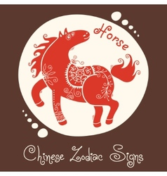 Horse chinese zodiac sign vector