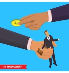 HR management vector image