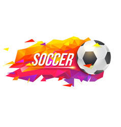 logo for soccer teams or tournaments vector image vector image