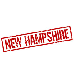 New hampshire red square stamp vector