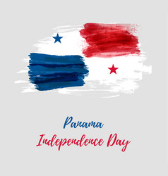 Panama independence day background vector