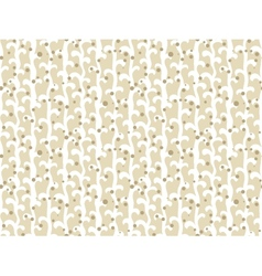 Pattern with vines and small random dots vector
