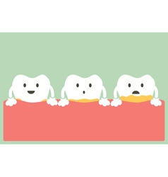 periodontal disease with plaque or tartar vector image vector image
