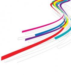 rainbow wave line vector image