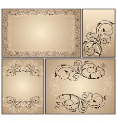 set a decorative vintage vector image vector image