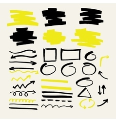 Set of elements for marker presentations vector image