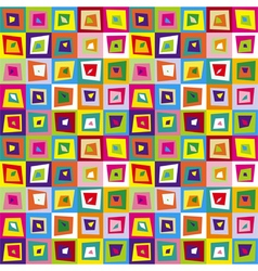 Squares distorted colorful seamless pattern vector