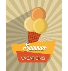 Summer and travel vector image