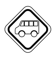 Traffic signal van vehicle isolated icon vector