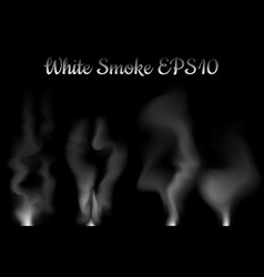 white smoke on black vector image vector image