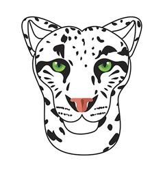 Wild cat irbis leopard snow bars in vector image