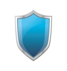 Blue shield emblem icon vector